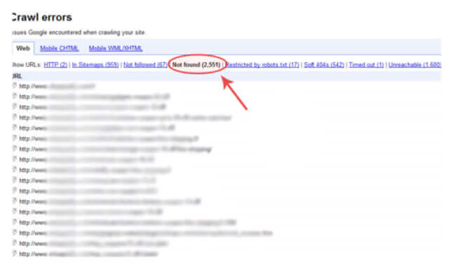 Google webmaster_crawl errors