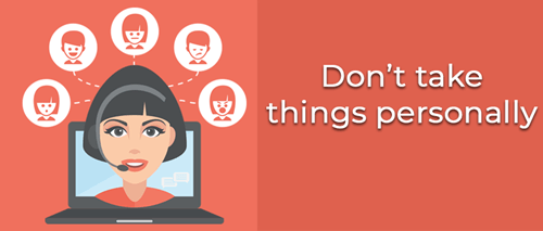 Handle angry customers_Don't take things personally infographic